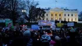 Manifestación ante la Casa Blanca contra el nuevo veto migratorio de Trump.
