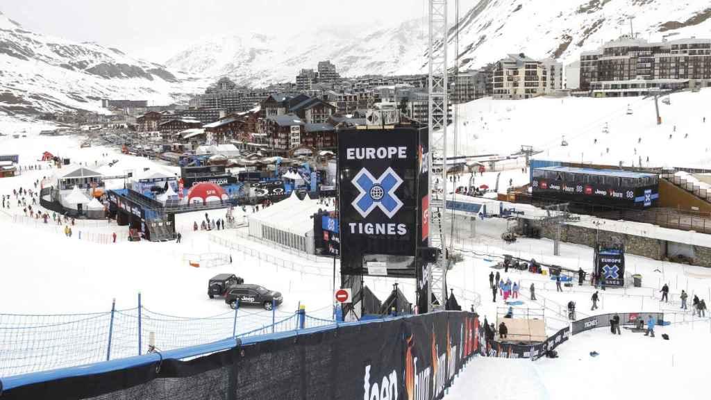 Una vista general de la estación de esquí en Tignes, en los Alpes.
