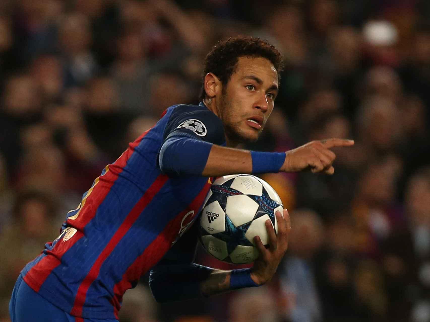 Neymar celebra el 5-1, el que abría de nuevo el sueño de la remontada.