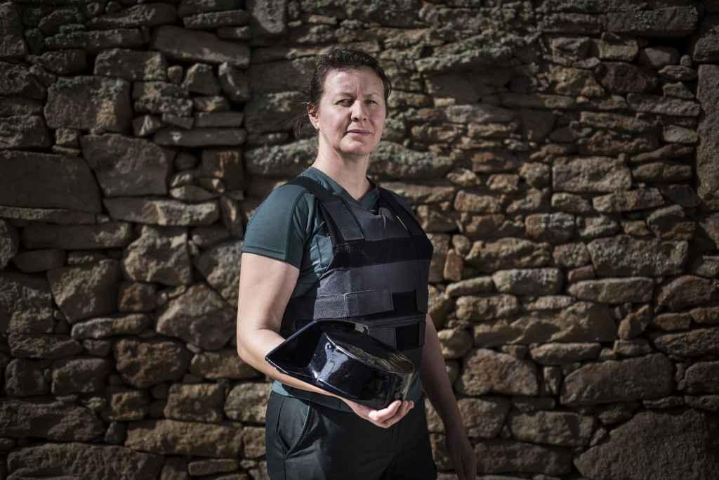 Alicia Sánchez es guardia civil en Monleras.