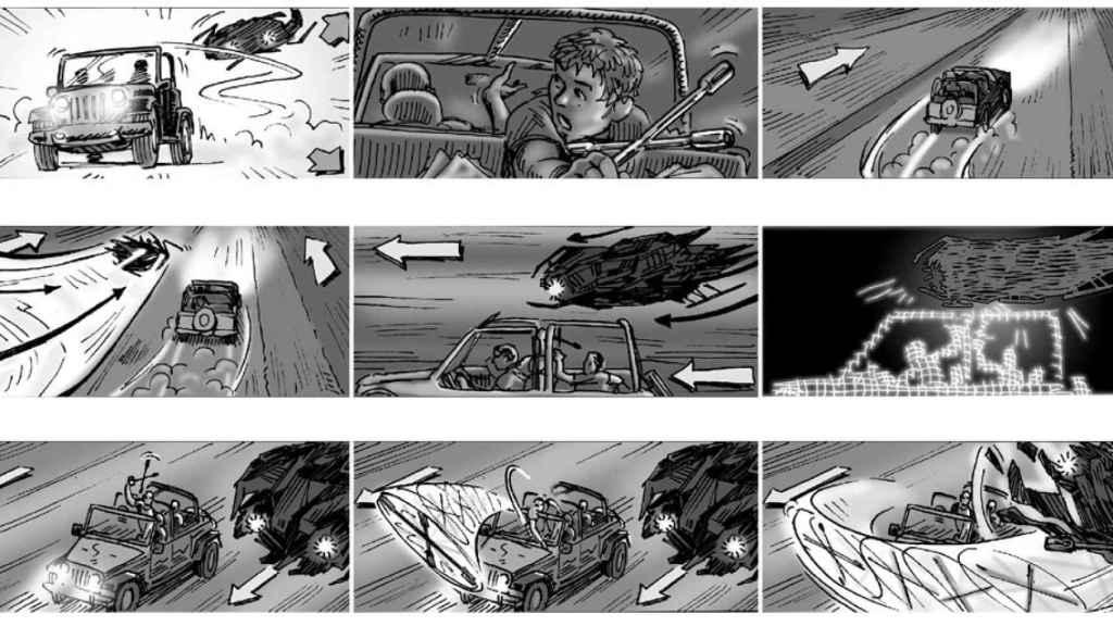 Storyboard de Terminator Salvation.
