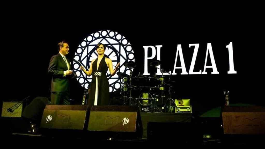 José Ribagorda y Elena Sánchez durante la gala.