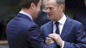 Tusk, durante la cumbre de la UE que se celebra en Bruselas