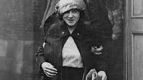 Celia Cooney saliendo de una de las sesiones de su juicio.
