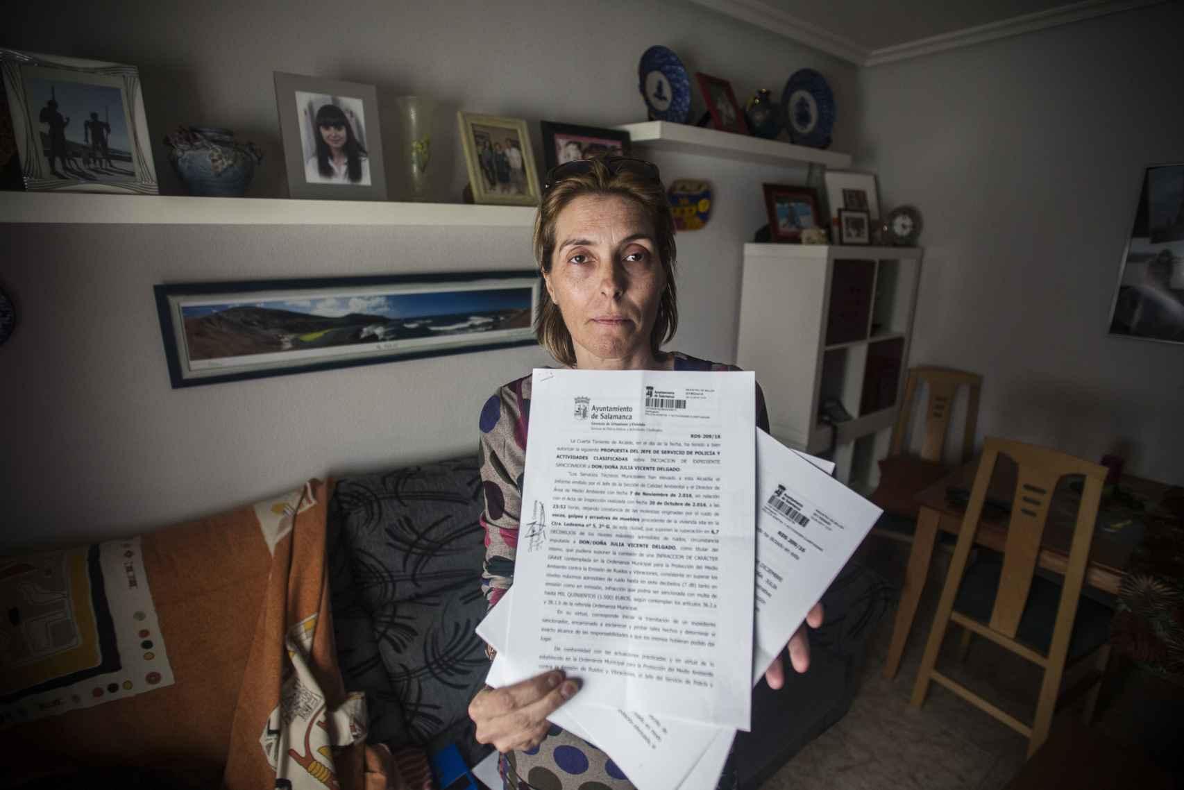 María Luisa Martín, la vecina del 2º G  que ha denunciado la situación ante la policía local de Salamanca.