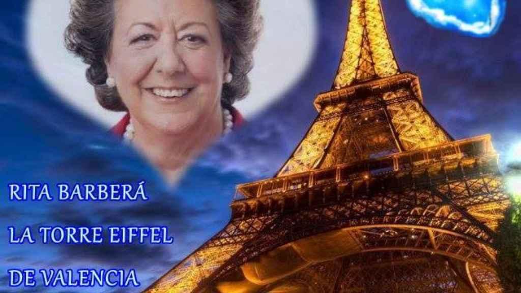 Un montaje que se ha compartido en el grupo de Facebook de 'Fans de Rita Barberá'.