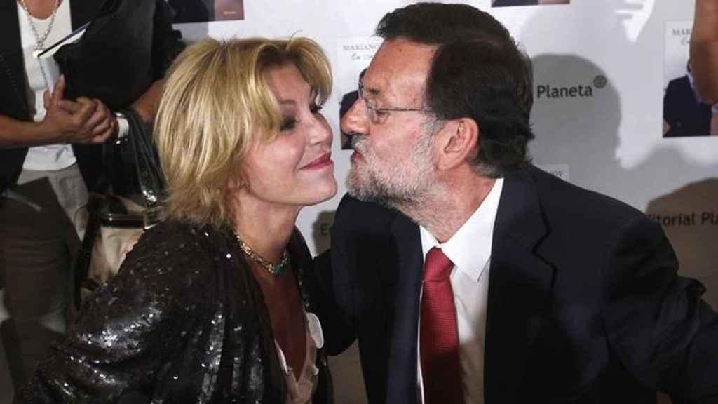 Carmen Cervera y Mariano Rajoy.