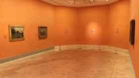 """Estadoa ctual de la sala """"H"""", donde sólo pueden verse tres de los diez cuadros."""
