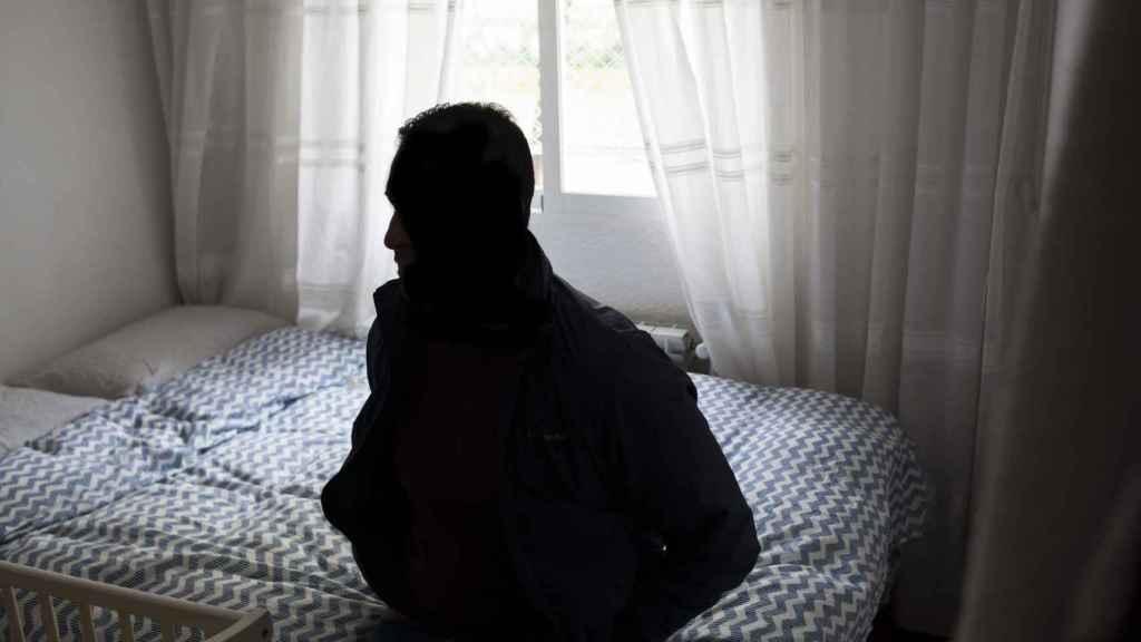 El hermano de Zougam en la habitación donde dormían juntos.