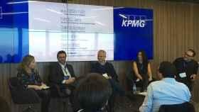 Francisco Sierra (Atresmedia Digital), Alberto Artero (El Confidencial), Eva Fernández (El Español) y Guillermo Rodríguez (Huffington Post).