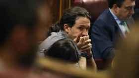 El líder de Podemos, Pablo Iglesias, esta semana en el Congreso de los Diputados.