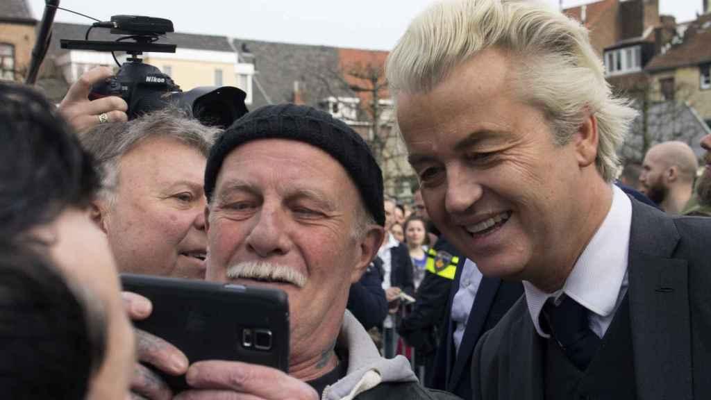 Wilders, durante un acto este mismo sábado.