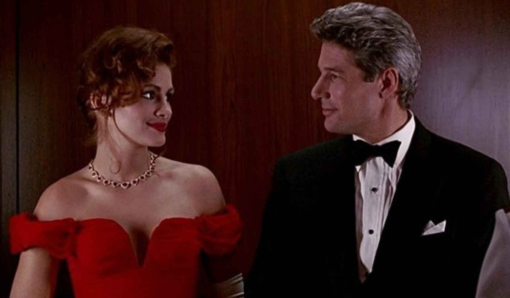 El personaje de Roberts pide al de Gere el cuento de hadas.