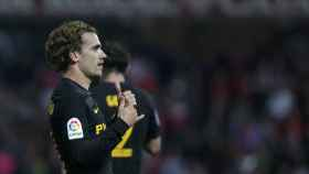 Griezmann celebra su gol en Granada.