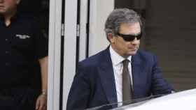 Jordi Pujol Ferrusola a su salida de la Audiencia Nacional