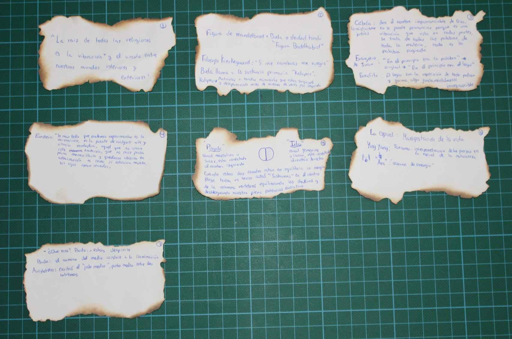Algunas de las anotaciones manuscritas que la familia de Patricia encontró en su habitación.