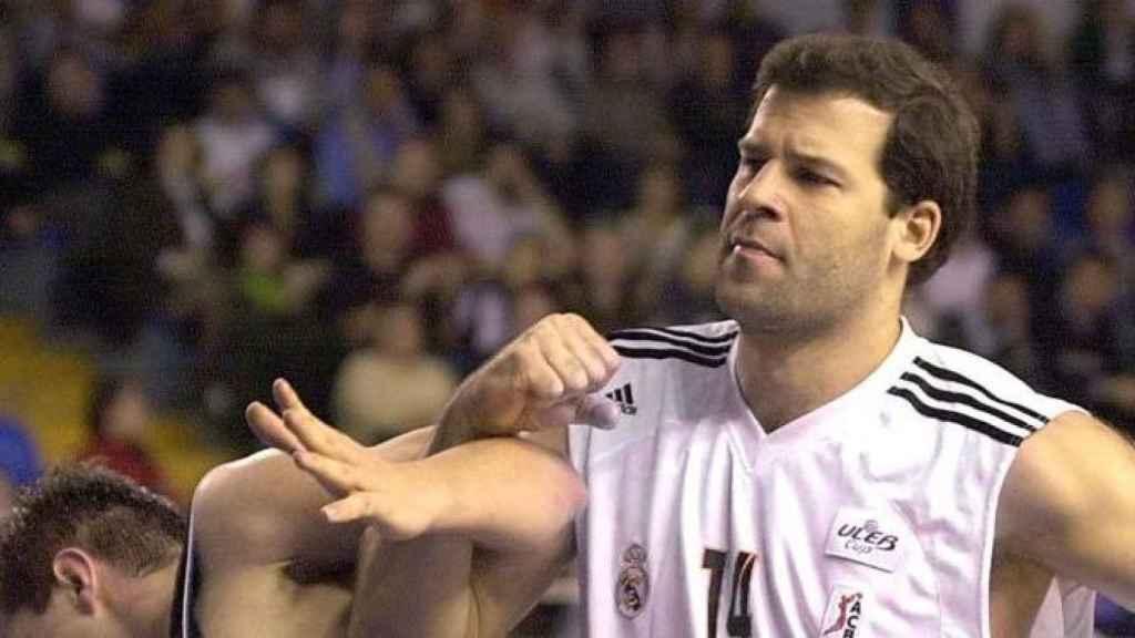Alfonso Reyes en su etapa en el Real Madrid.