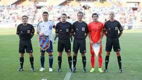 Foto oficial del Recreativo-FC Barcelona del Trofeo Colombino, 19 de julio de 2014.