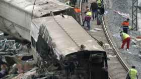 Una imagen del tren accidentado.