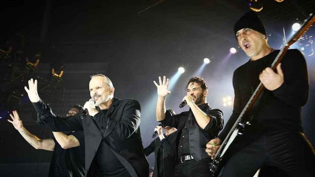 Durante uno de sus conciertos por Latinoamérica.
