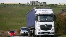 El tráfico junto a Stonehenge.