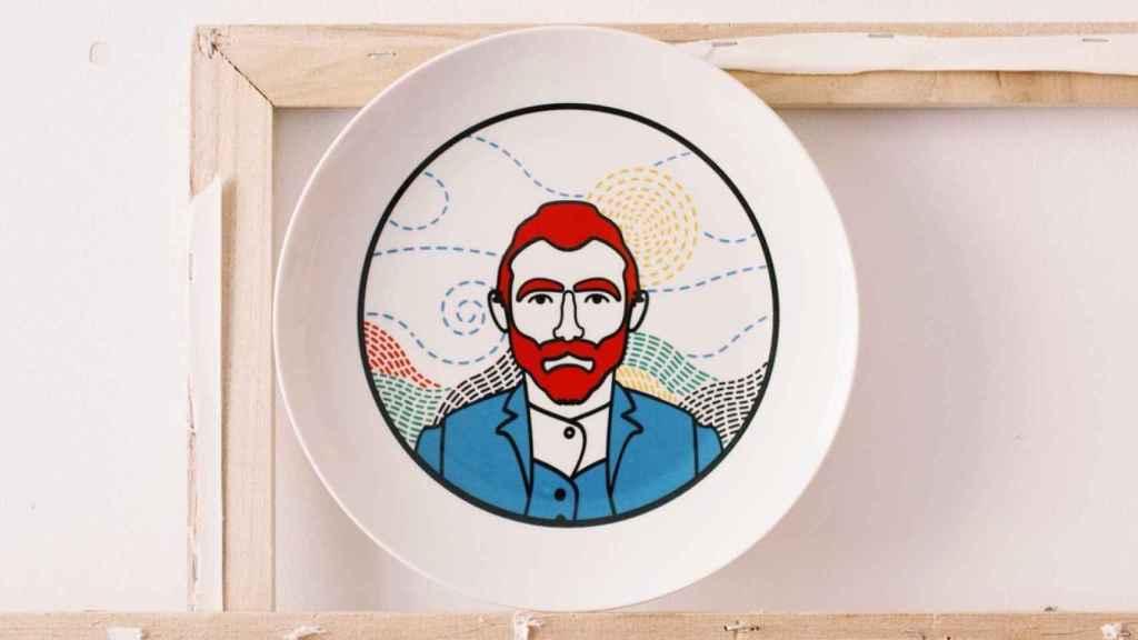 Van Gogh ilustrado por el artista José Antonio Rueda.