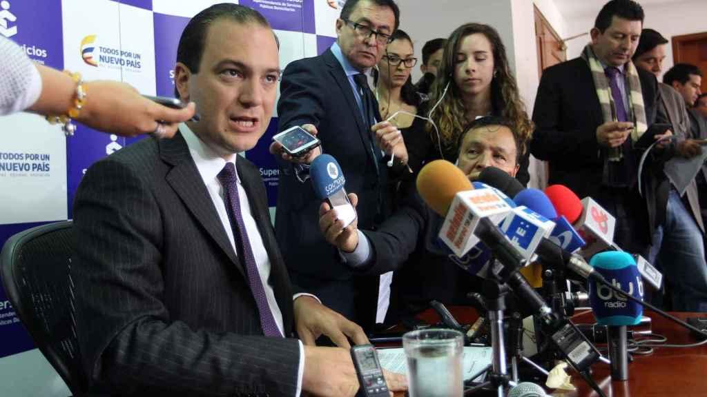 El superintendente de Servicios Públicos de Colombia, José Miguel Mendoza.
