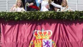 Momento del beso entre los ya reyes, el 19 de junio de 2014
