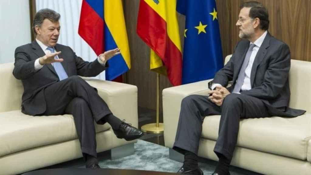 Reunión entre Juan Manuel Santos y Mariano Rajoy.