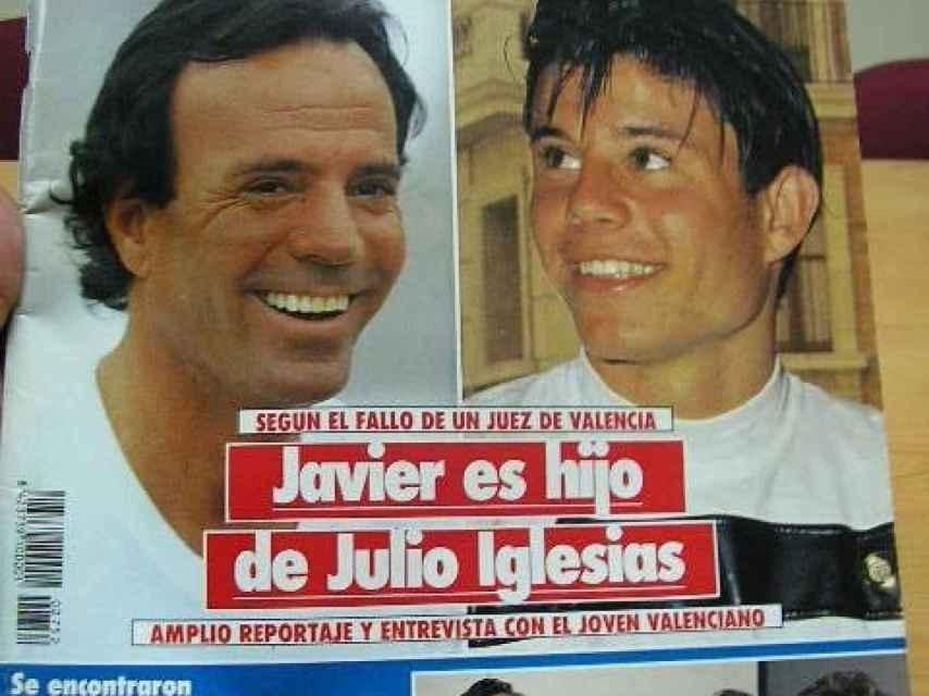 Julio Iglesias y Javier en la portada de la revista SEMANA en los años 90.