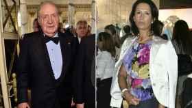 El rey Juan Carlos (izda) y Marta Gayá (dcha)