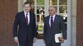 El expresidente de Murcia, Alberto Garre, con Mariano Rajoy.