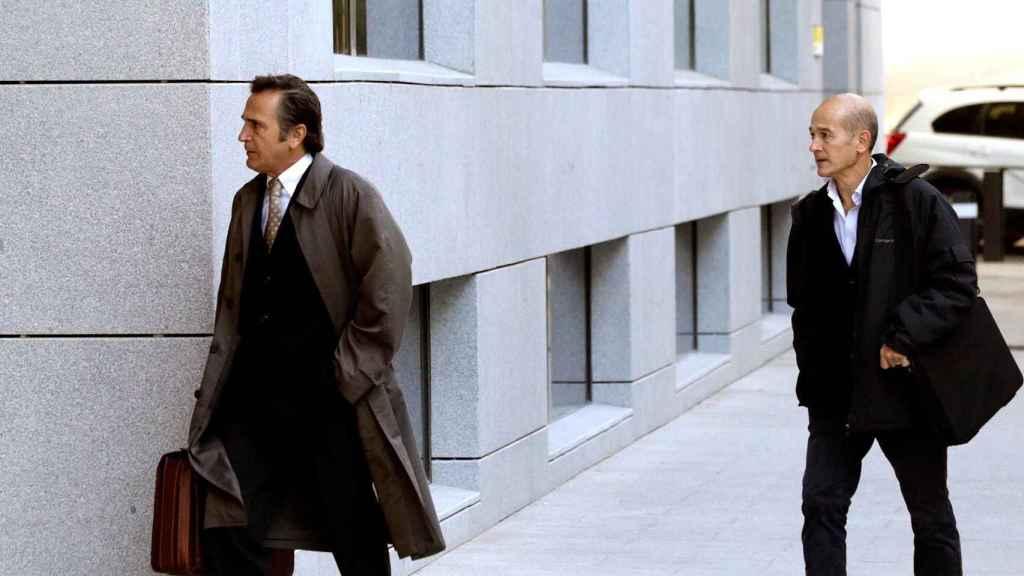 Josep y Pere Pujol Ferrusola, a su llegada a la Audiencia Nacional
