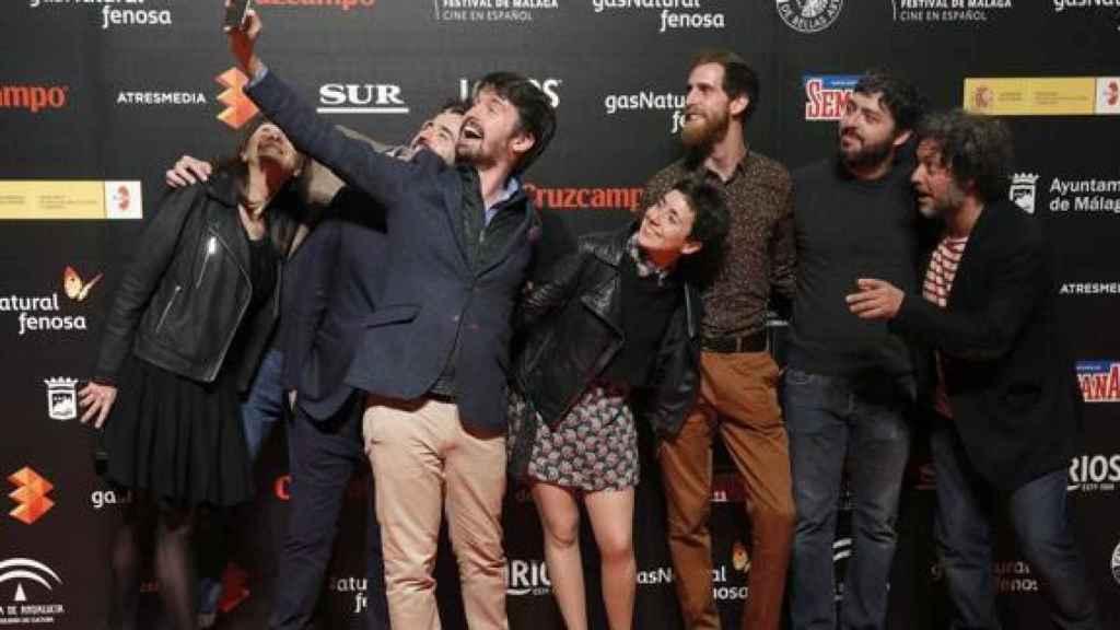 El equipo de Selfie en la presentación del festival.