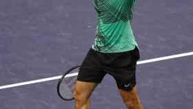 Federer en un partido reciente en Indian Wells.