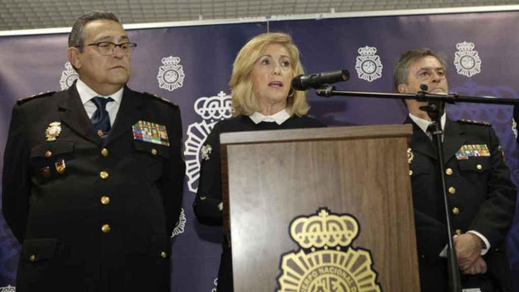 La Delegada del Gobierno en Madrid, Concepción Dancausa, en rueda de prensa.