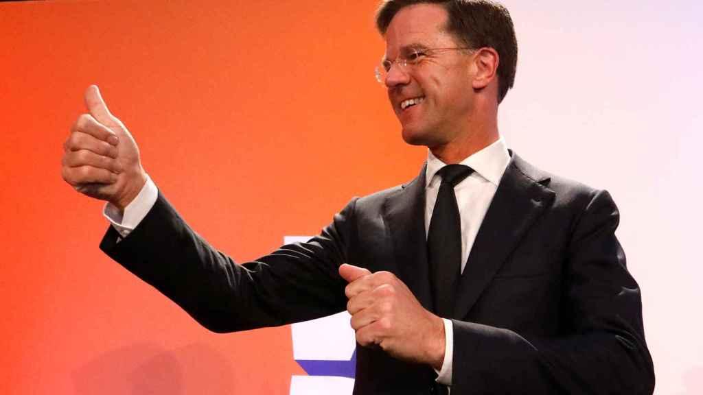 Rutte celebra su amplia victoria en las elecciones holandesas