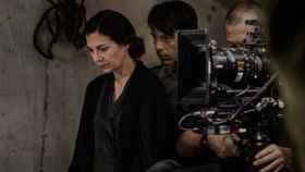 Núria Prims en el rodaje de Incierta Gloria, rodada con el apoyo de la televisión autonómica catalana.