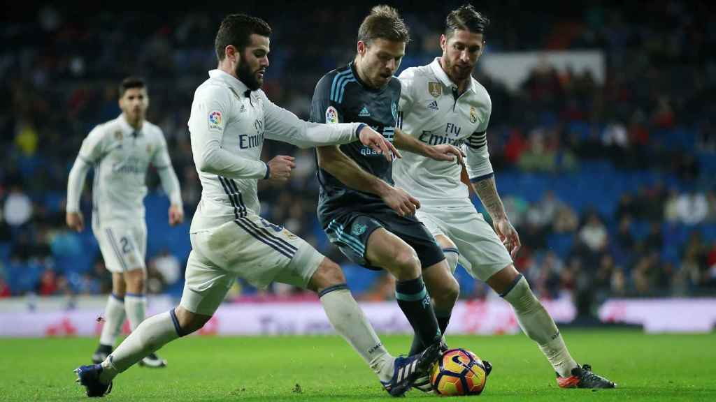 Illarramendi, durante el Real Madrid-Real Sociedad del 29 de enero de 2017.