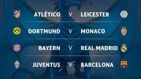 Cruces en cuartos de la Champions League 2016/17.