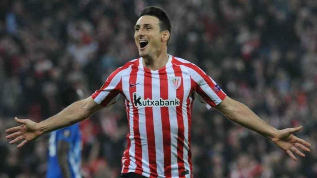 Aduriz celebrando un gol con el Athletic   Foto: Twitter (@partidazocope)