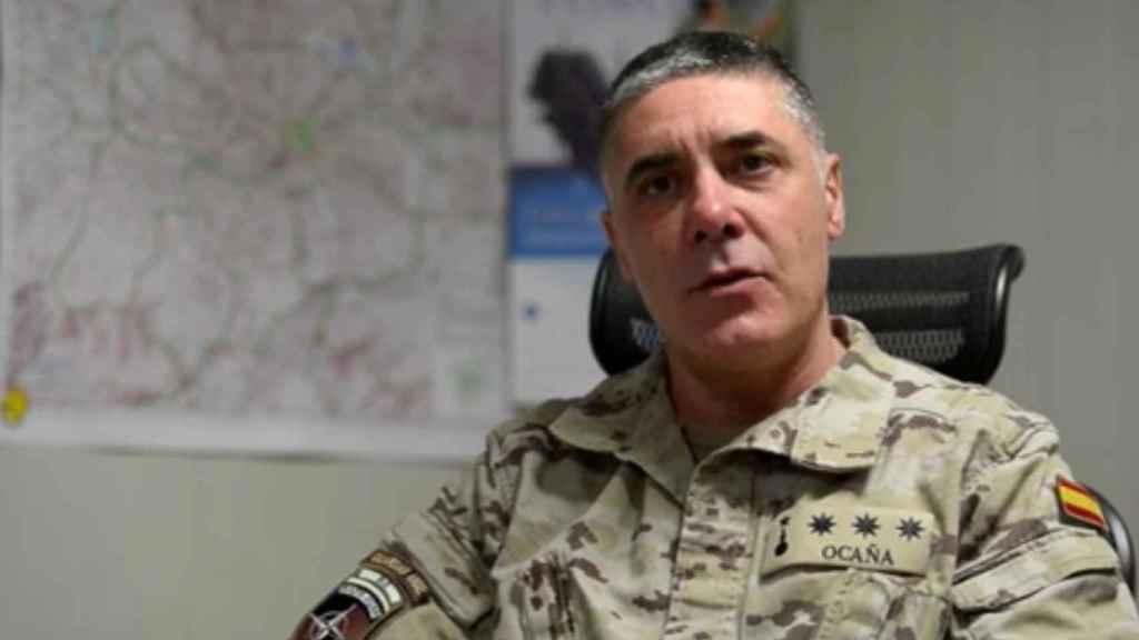 El coronel Rafael Ocaña es el jefe del contingente español en Afganistán.