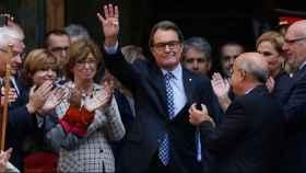 El ex presidente del Gobierno catalán, a las puertas del Tribunal Superior de Cataluña
