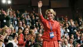Esperanza Aguirre durante el XVI Congreso del PP de Madrid.