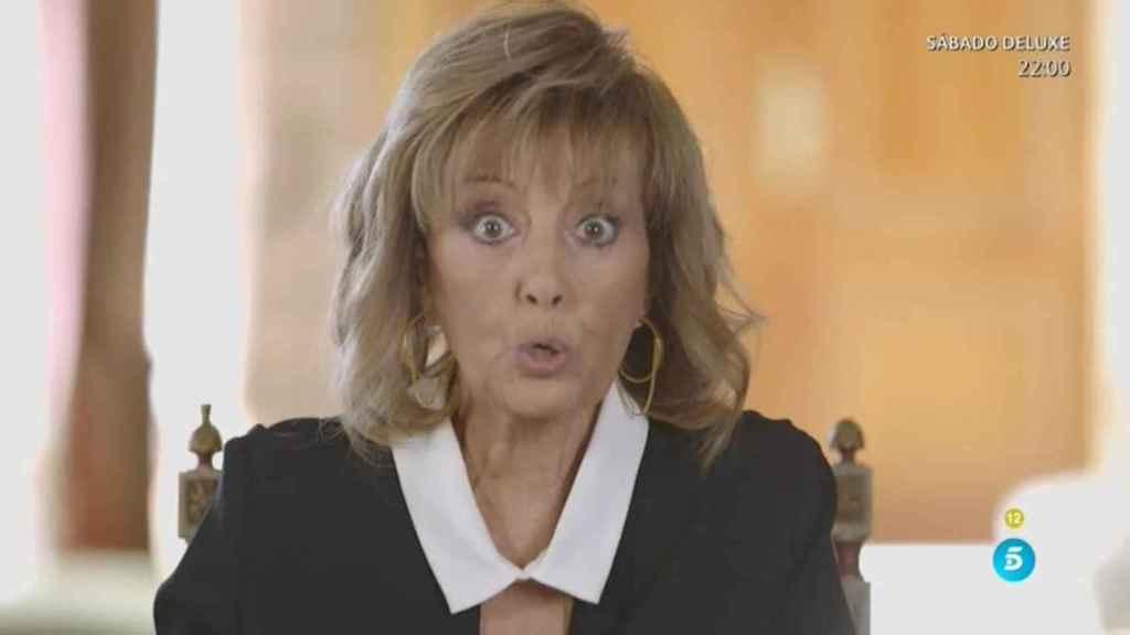 María Teresa en uno de los momentos de su programa.