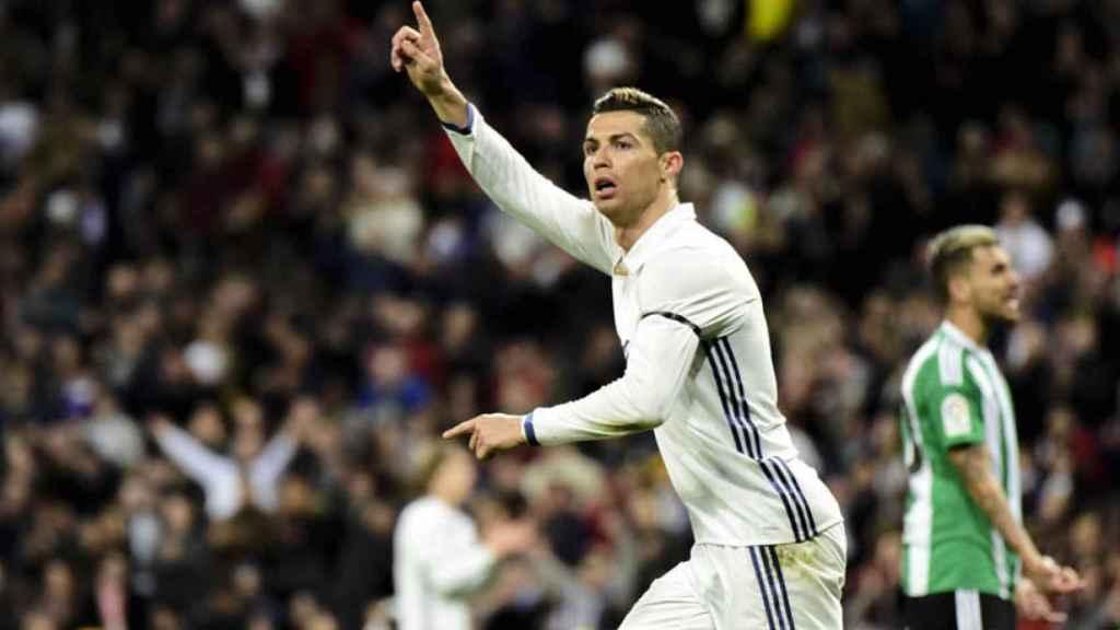 Cristiano en el Real Madrid-Betis. Foto: Lucía Contreras/El Bernabéu