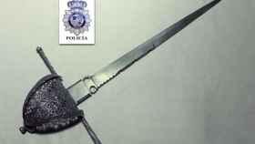 Imagen de la daga de Cervantes que ha sido recuperada.