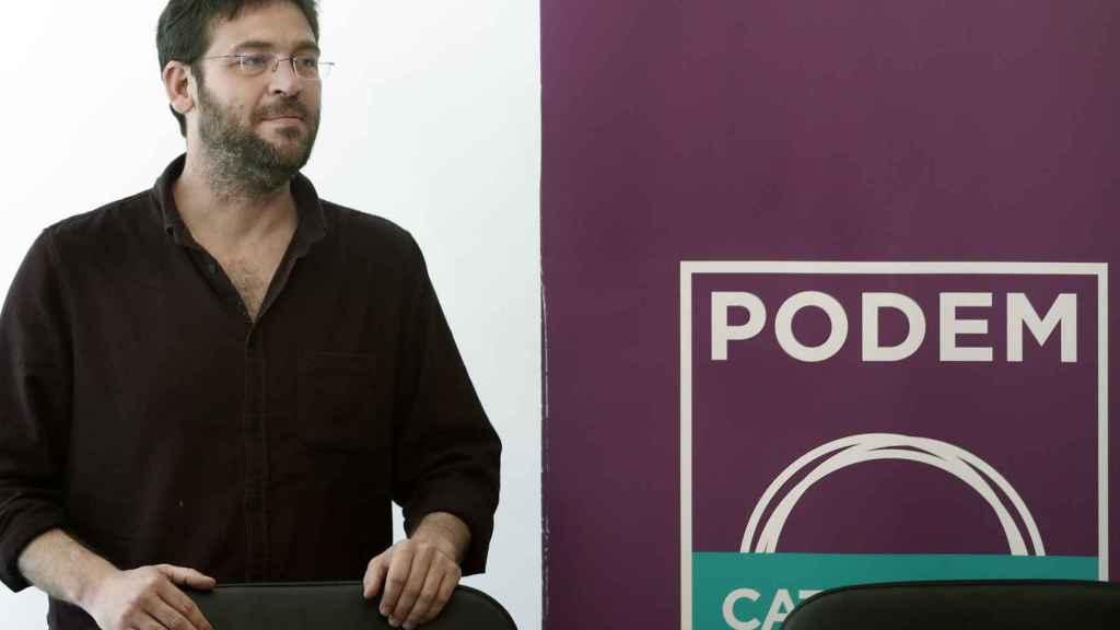 El líder de Podem, Albano Dante Fachin, durante la rueda de prensa.