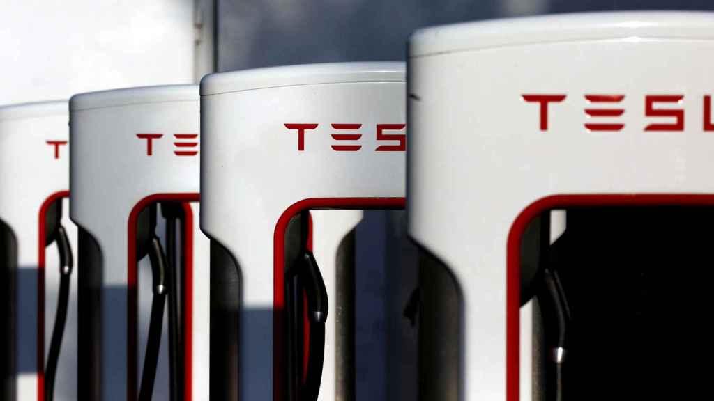 Supercargadores de Tesla en California.