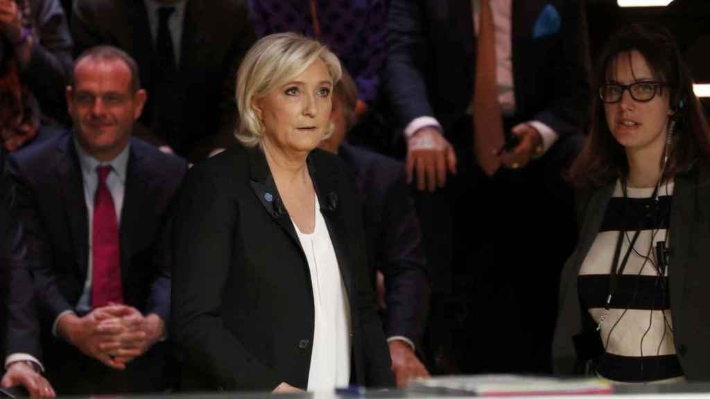 Le Pen en un momento del debate.